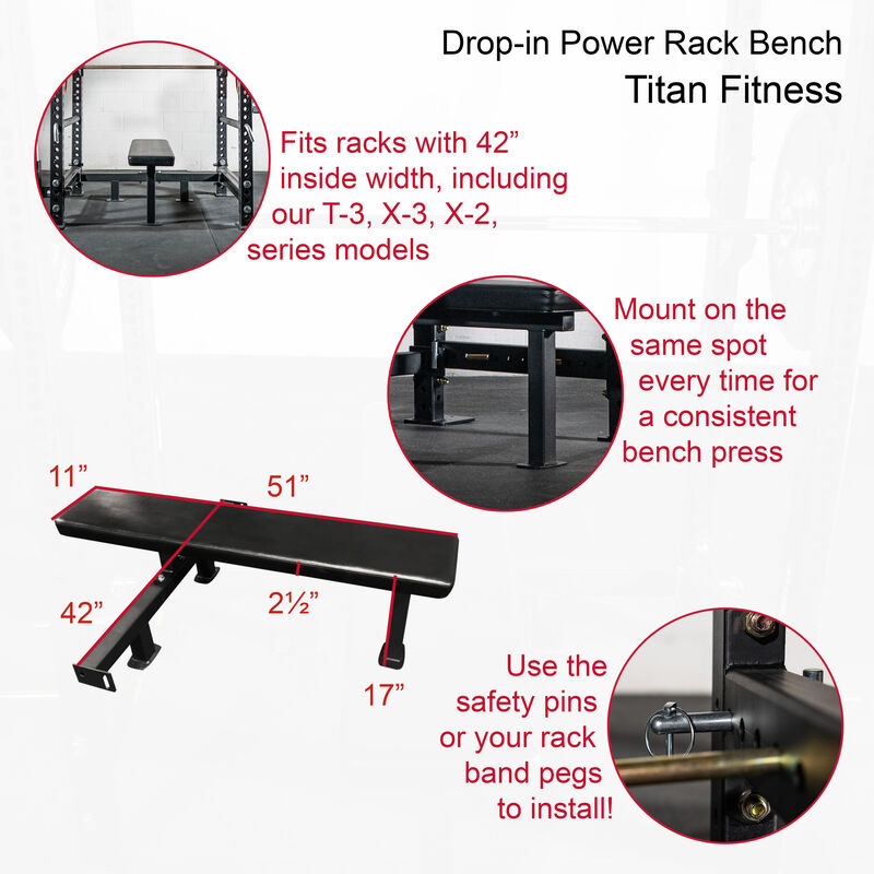 Drop-In Power Rack Bench | Competition Height