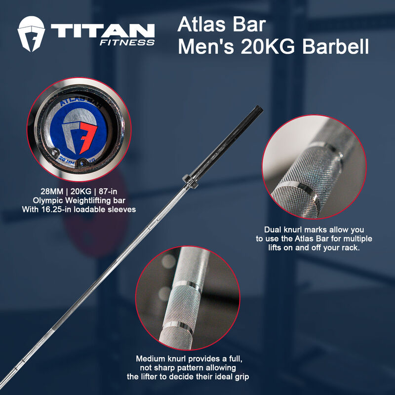 Atlas Bar – Men's 20KG Barbell