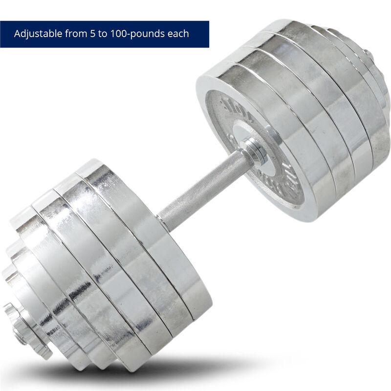 200 LB Set Adjustable Chrome Dumbbells