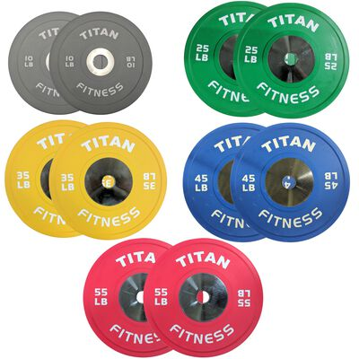 Elite Olympic Bumper Plates | Color | 340 LB Set | SKU: 430149