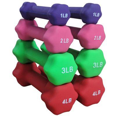 Neoprene Light Weight Dumbbell Set - 1, 2, 3 , 4 LB