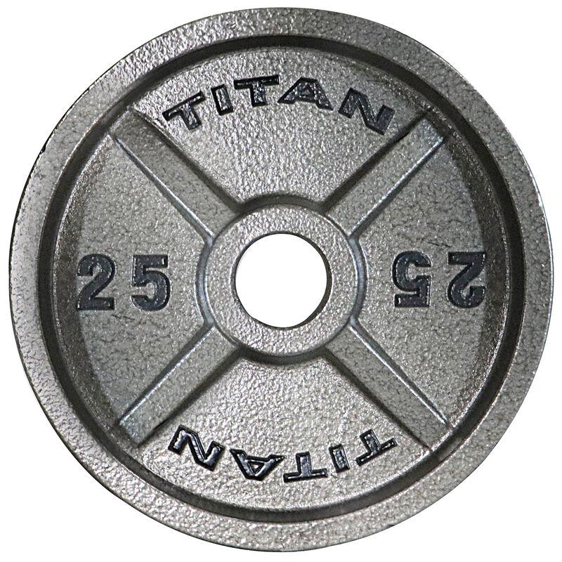 25 LB Pair Cast Iron Olympic Plates
