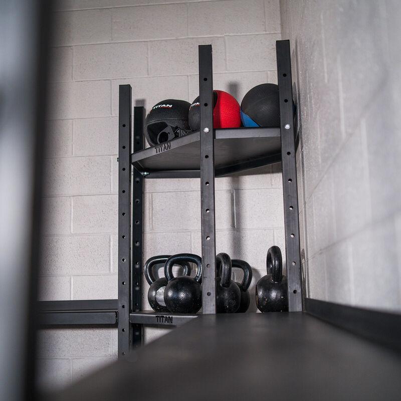 2-Tier Mass Storage Corner Shelf