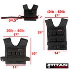 Adjustable Weighted Vest 60 LB