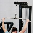 "Stainless Steel Lat Bar | 48"" Width"