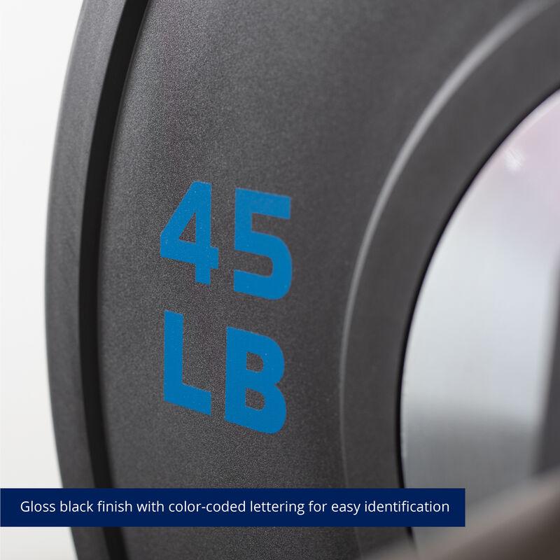45 LB Single Elite Black Bumper Plate