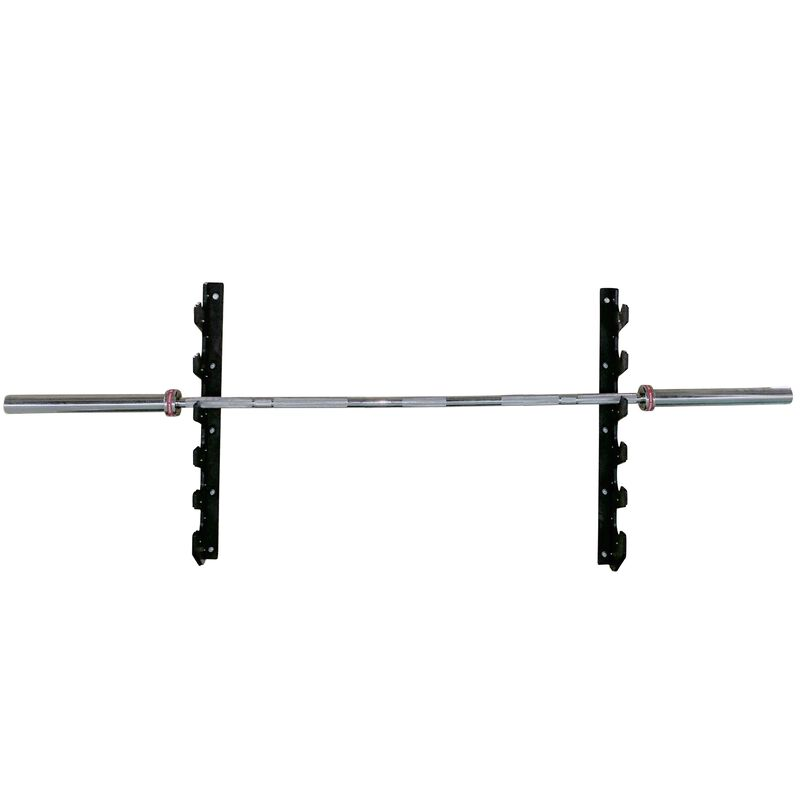 Wall Mounted 6 Barbell Rack