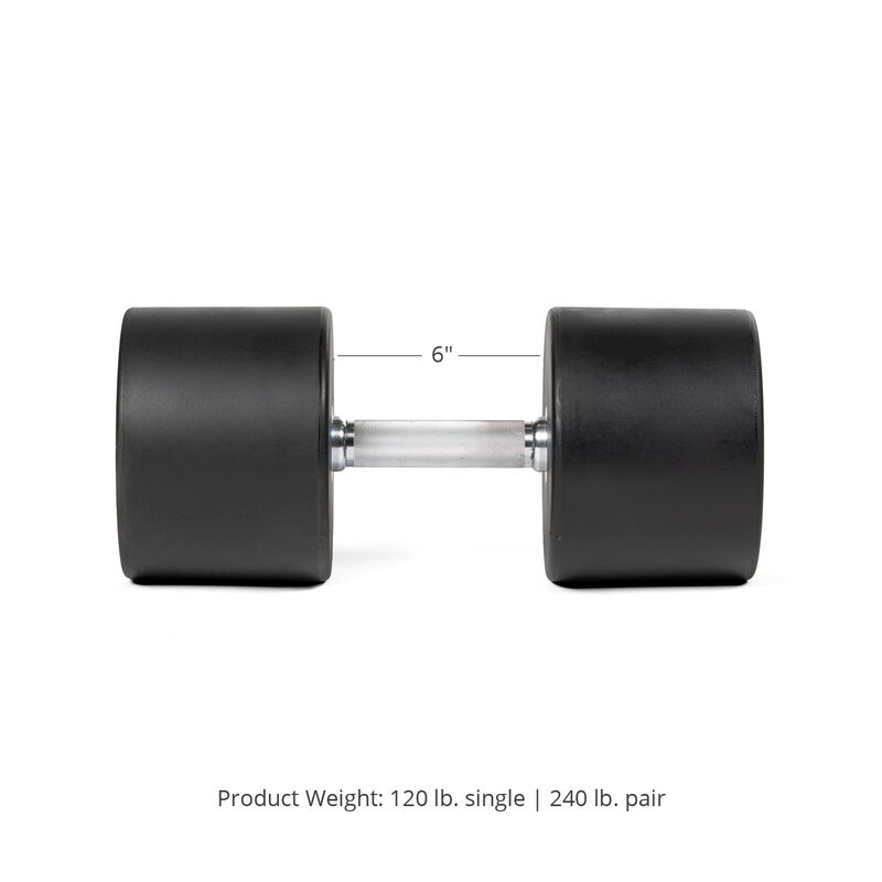 120 LB Pair Round Urethane Dumbbells
