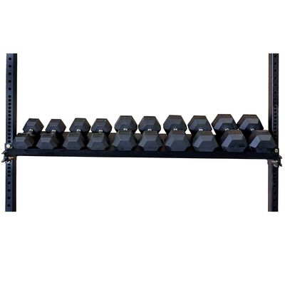 """70"""" Wall Mount Rig Kettle Bell and Dumbbell Rotating Storage Shelf"""