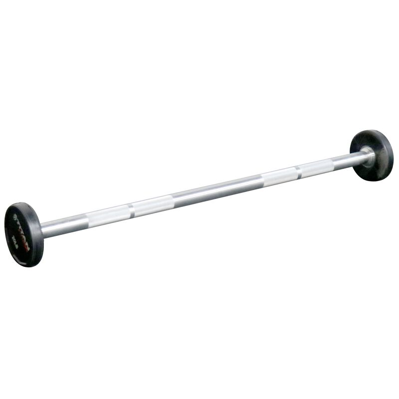Rubber Fixed Barbell | Straight | 20 LB