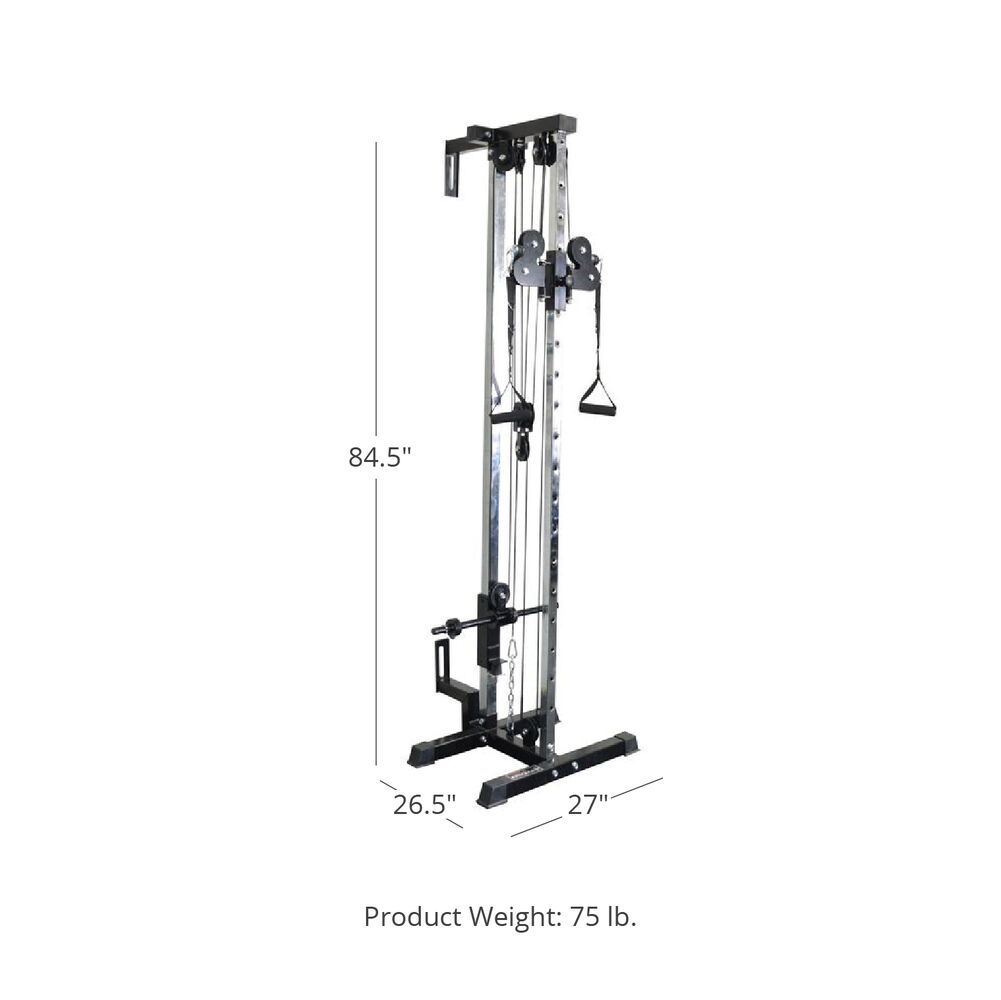 Tower Wall Mount Pulley System Cable Attachment Tricep Biceps Forearm For Men