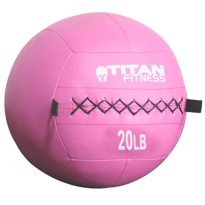 Breast Cancer Awareness   Soft Leather Medicine Wall Ball   20 LB