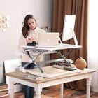 FlexiSpot ClassicRiser Series   Adjustable Standing Desk   35-in platform   White