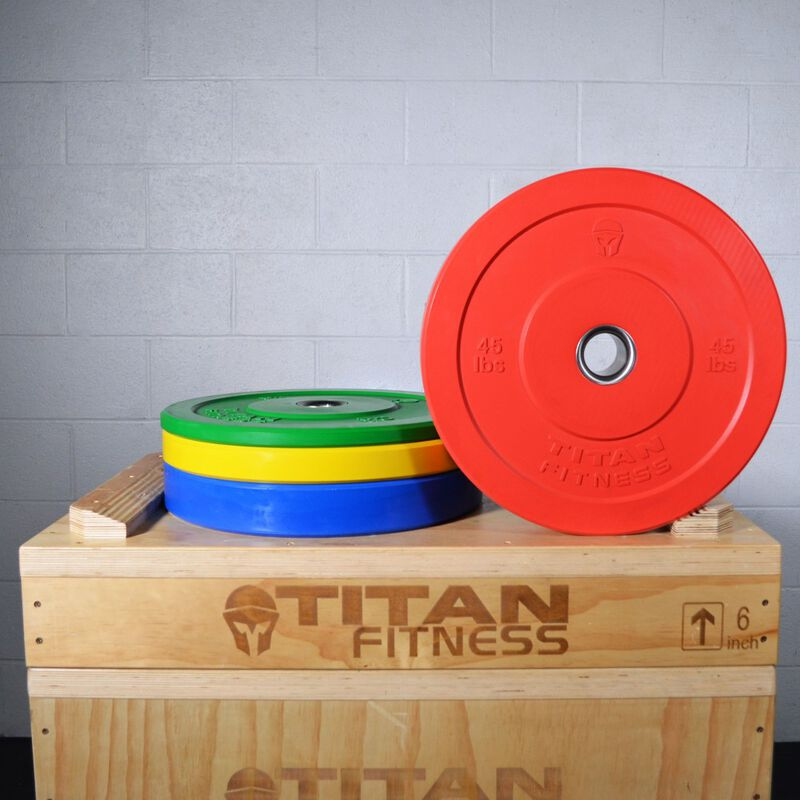 Olympic Rubber Bumper Plates | Color | 35 LB Single
