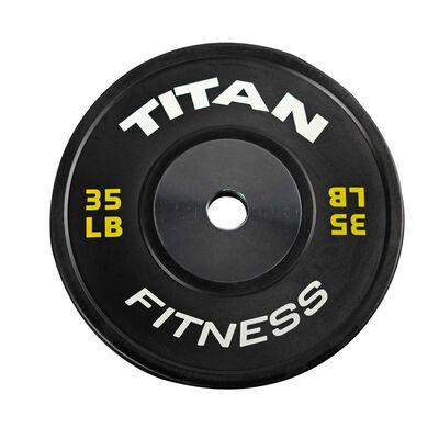 Elite Black Bumper Plate – 35 lb. Single