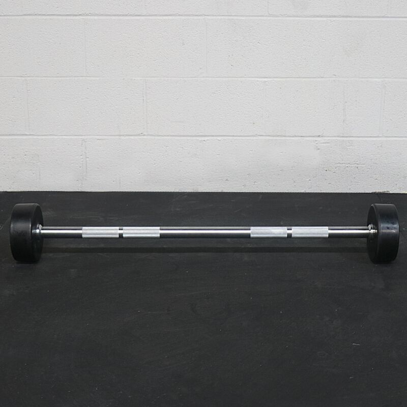 Rubber Fixed Barbell | Straight | 40 LB