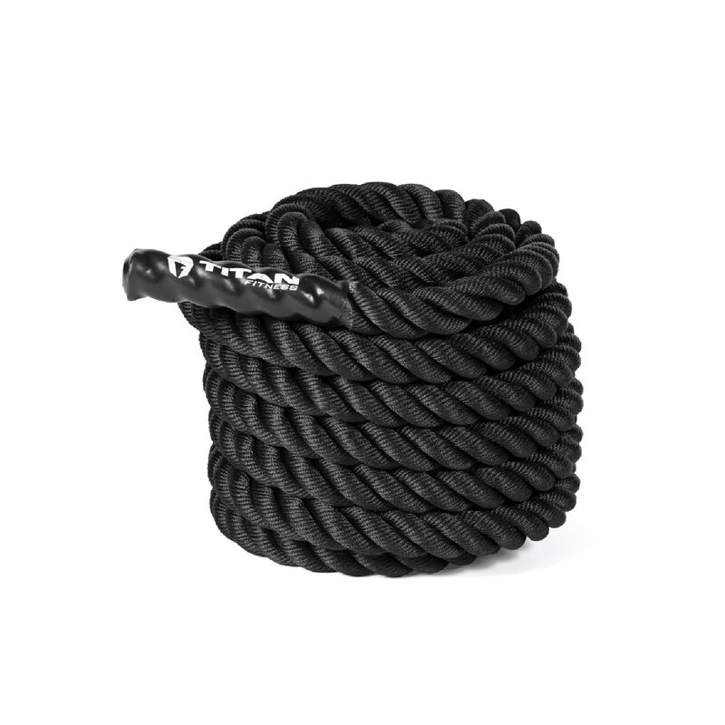 40 ft x 1.5-in Battle Rope – Black Poly Dacron