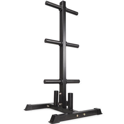 Plate and Barbell Storage Tree