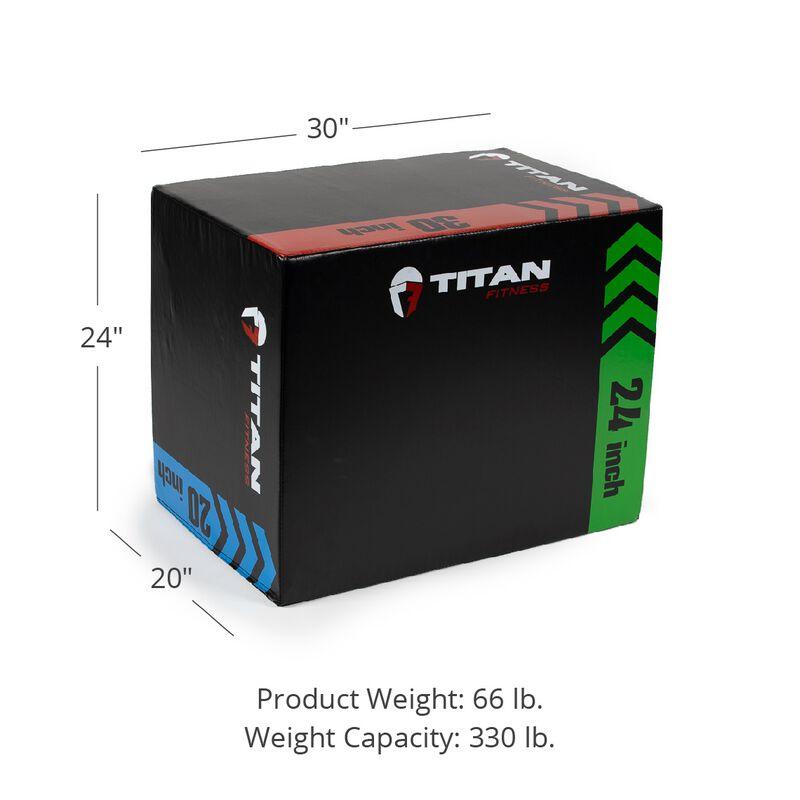 3-In-1 Heavy Foam Plyometric Box – 20-in x 24-in x 30-in