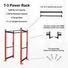 "T-3 Series Tall Power Rack | 24"" Depth | Fire Red"