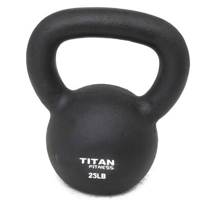 Cast Iron Kettlebell Weight - 25 lbs