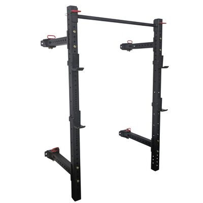 "41"" Short Fold Back Wall Mounted X-3 Power Rack"