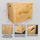 3-in-1 Wooden Plyometric Box – 20-in. 24-in. 30-in.