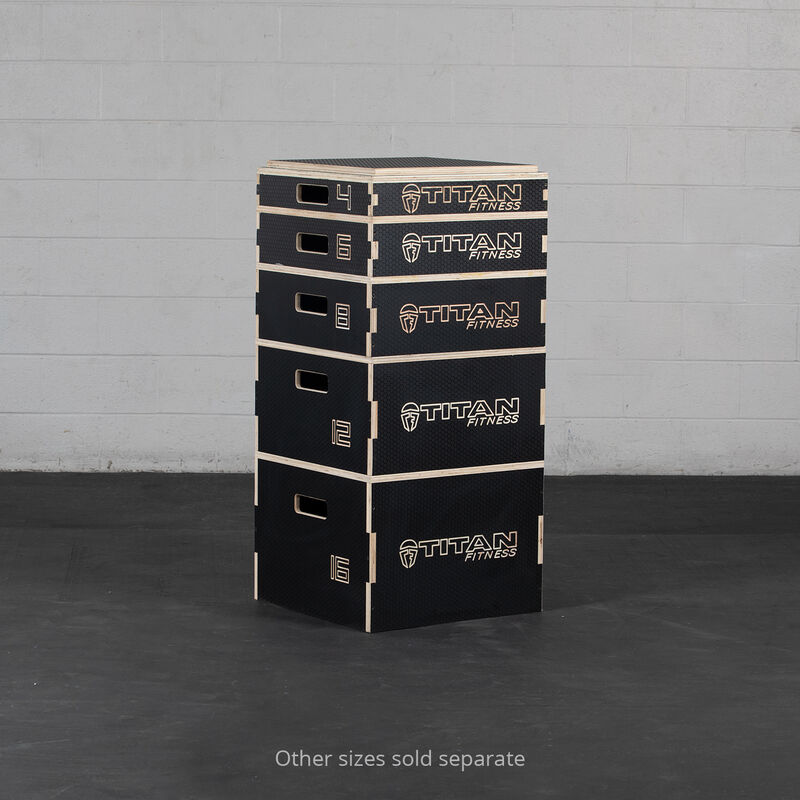 8-in Stackable Wooden Plyometric Box