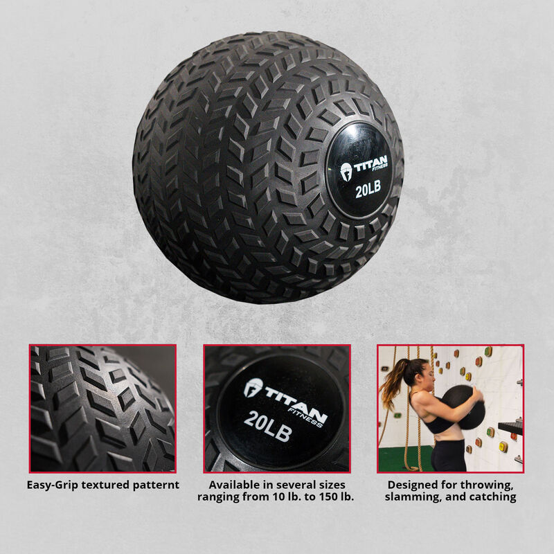 20 lb. Rubber Tread Slam Ball