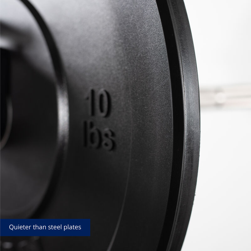 10 LB Pair Economy Black Bumper Plates