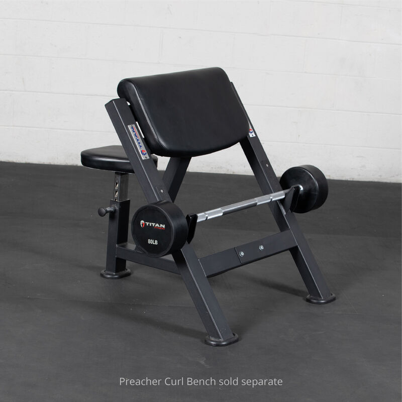 80 LB Straight Rubber Fixed Barbell