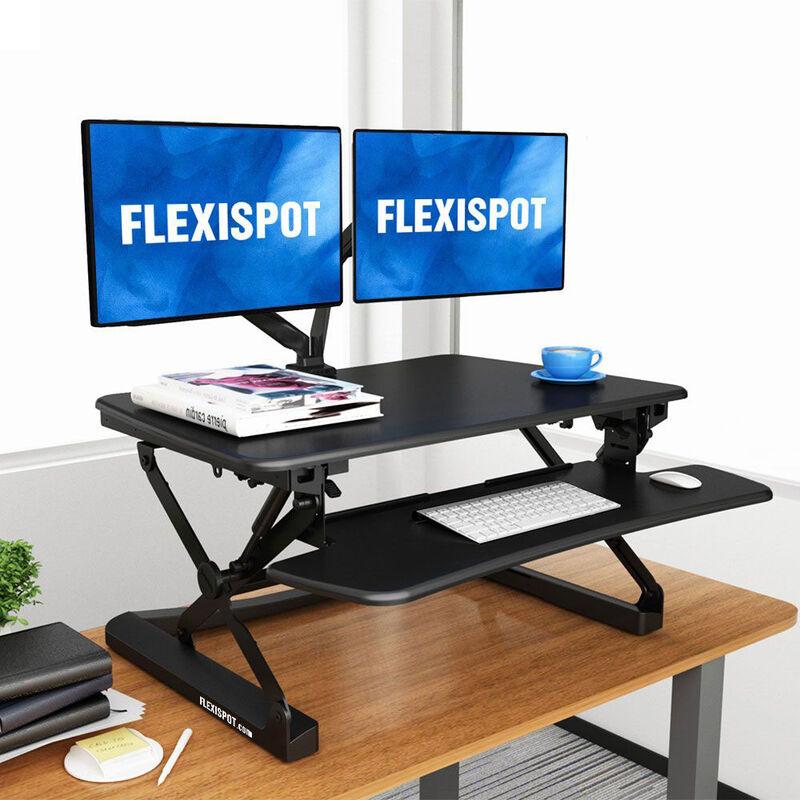 FlexiSpot ClassicRiser Series | Adjustable Standing Desk | 35-in platform | Black