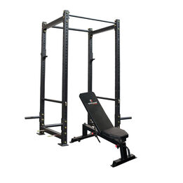 """X-3 Series Bolt Down Power Rack   Short   36"""" Depth with Incline Bench Combo"""