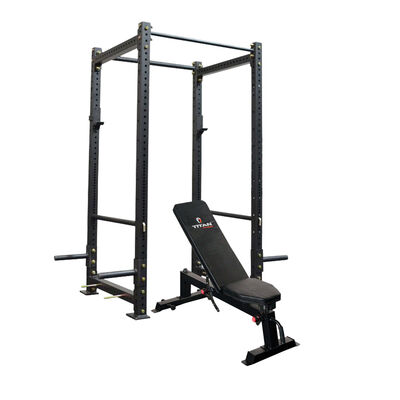 X-3 Series Bolt Down Power Rack with Incline Bench Combo