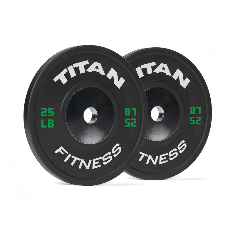 25 LB Pair Elite Black Bumper Plates