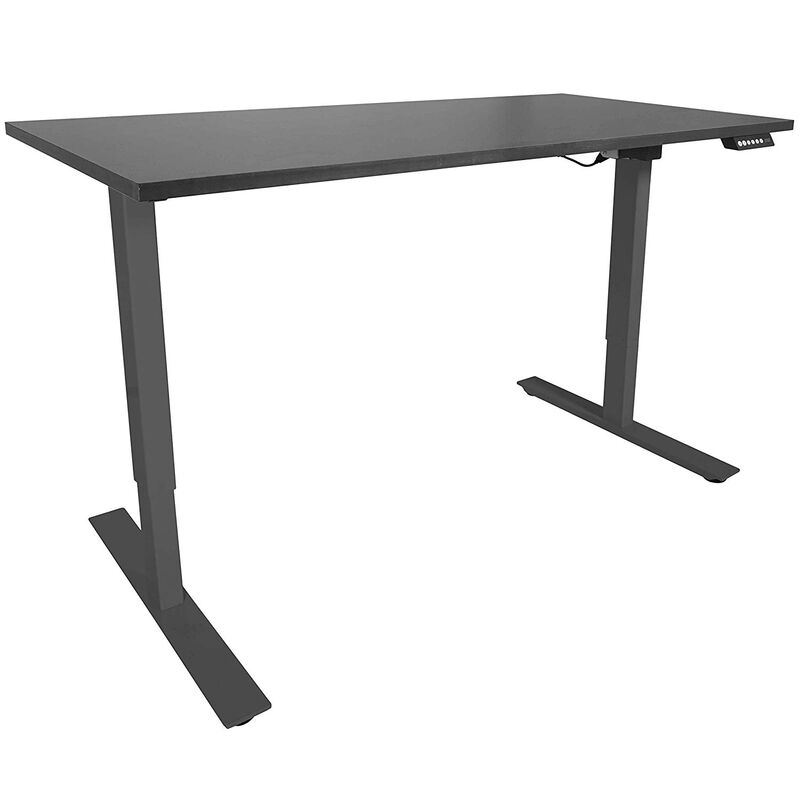 "A2 Black Adjustable Sit To Stand Desk 27""- 46"" w/ Black 60"" x 30"" Top"