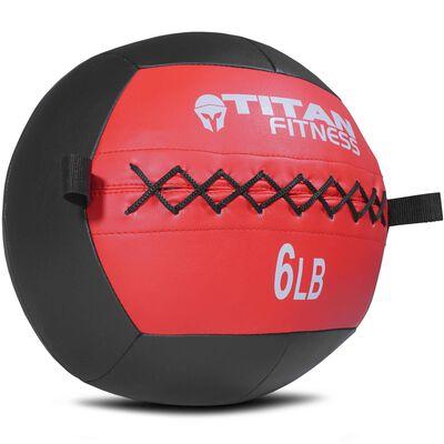 6 lb Soft Medicine Wall Ball Leather