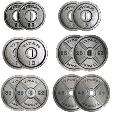 Cast Iron Olympic Weight Plates   245 LB Set