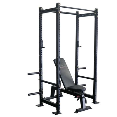 "T-3 Series Tall Power Rack & Incline Bench Combo | 24"" Depth 