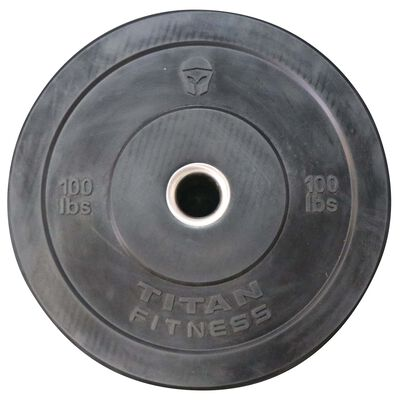 100 LB Single Economy Black Bumper Plate