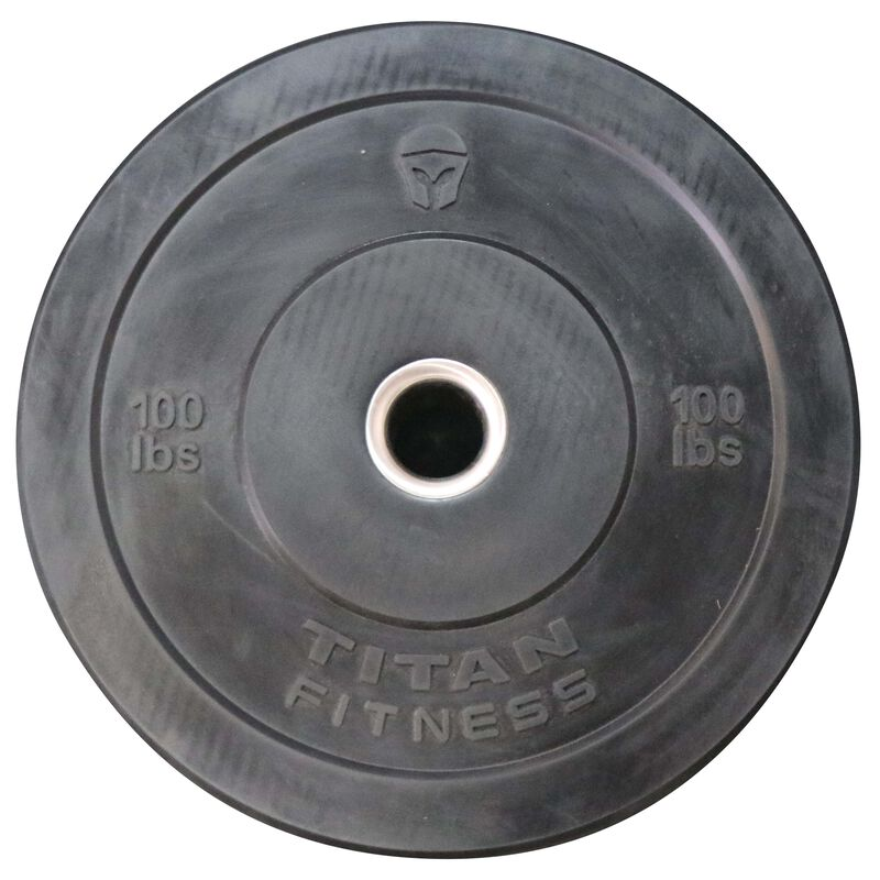 Rubber Weight Plates - 100lb Olympic Bumper Plates + Free Shipping | Titan® Fitness