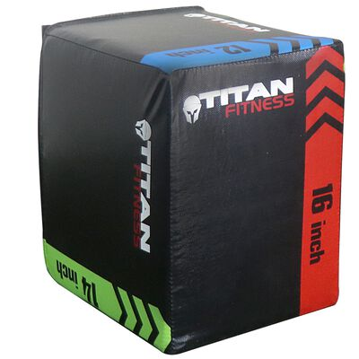 "3-In-1 Heavy Foam Plyometric Box 12"" 14"" 16"""