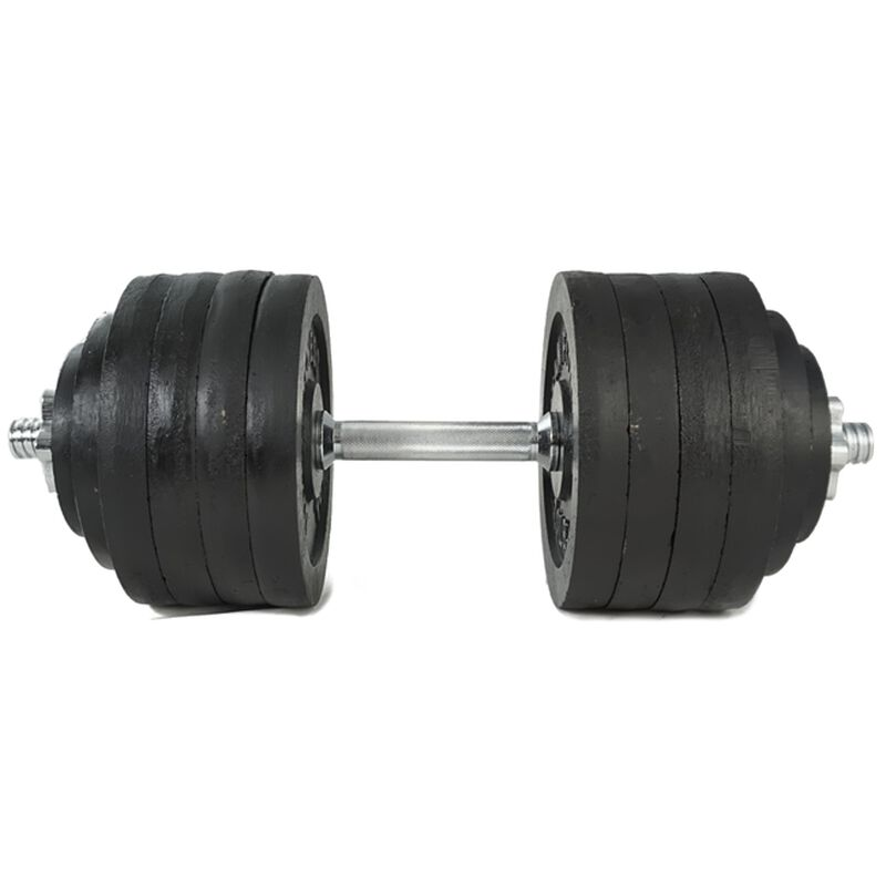 Pair of Adjustable Cast Iron Dumbbells 5-100 lb each