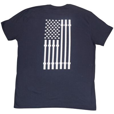Titan Fitness T-Shirt | Navy Flag | Adult Small