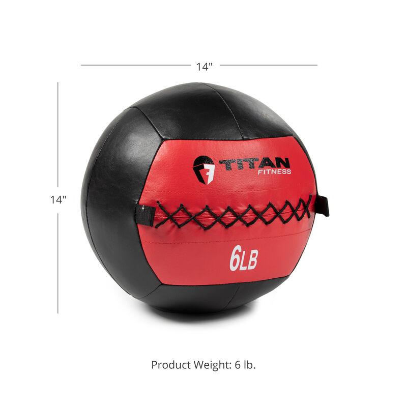 6 LB Soft Leather Medicine Wall Ball