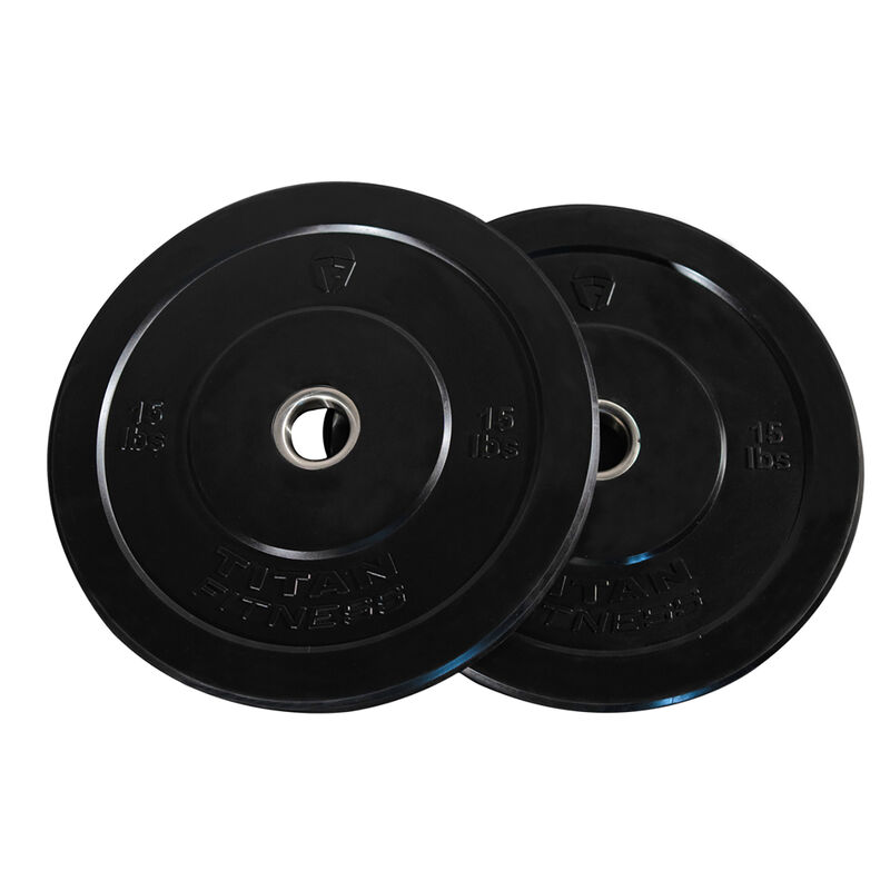 15 LB Pair Economy Black Bumper Plates