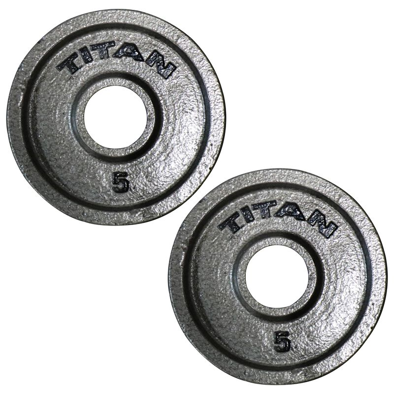 Cast Iron Olympic Weight Plates | 5 LB Pair