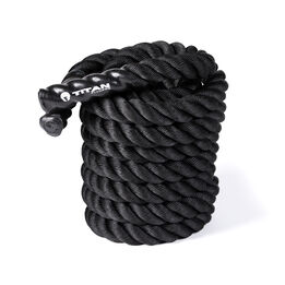 30 FT x 2-in Battle Rope – Black Poly Dacron