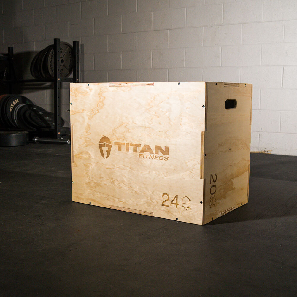 Apex Barbell 3 in 1 Plyometric Jump Box Plyo Box Size 30//24//20