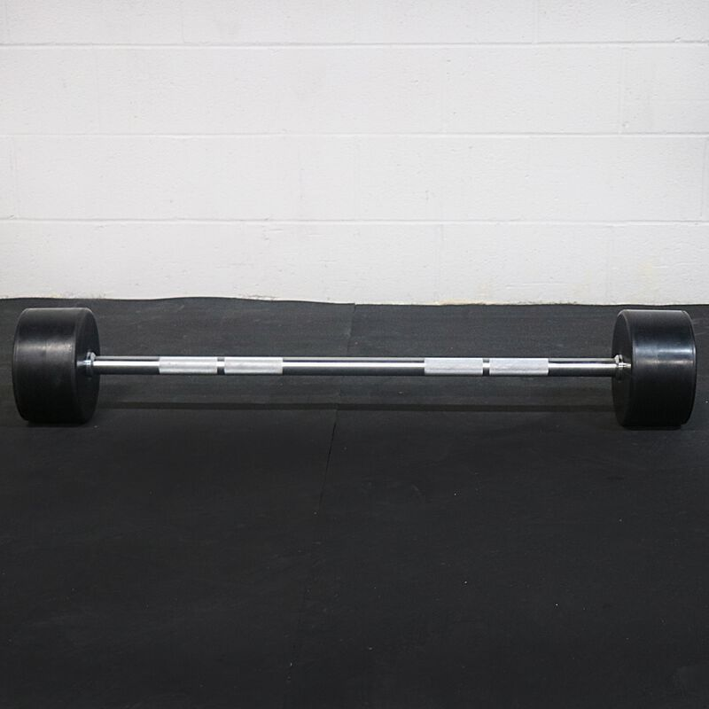 Rubber Fixed Barbell | Straight | 100 LB